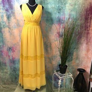 💛David's Bridal Sweet Bridesmaid Homecoming Dress